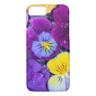 Coque iPhone 8/7 La pensée fleurit le flottement dans le bain