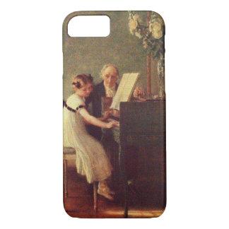 Coque iPhone 8/7 La première leçon de piano par Muenier