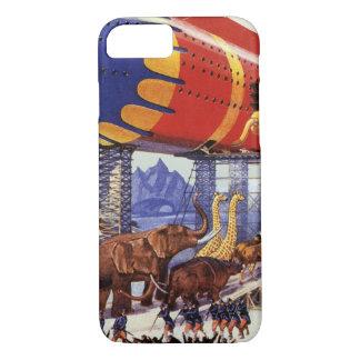 Coque iPhone 8/7 La science-fiction vintage, animaux sauvages de