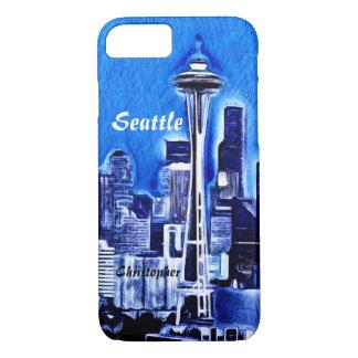 Coque iPhone 8/7 L'aiguille de l'espace - Seattle, Washington
