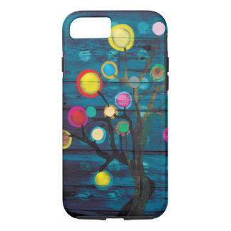 Coque iPhone 8/7 L'arbre foncé uni colore heureux