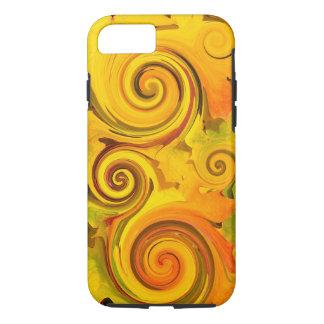 Coque iPhone 8/7 L'automne de couleurs d'automne laisse des remous