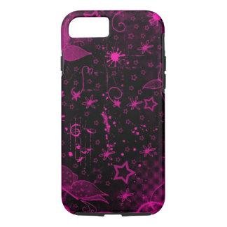 Coque iPhone 8/7 le bassin rose minimalistic de peinture est peint