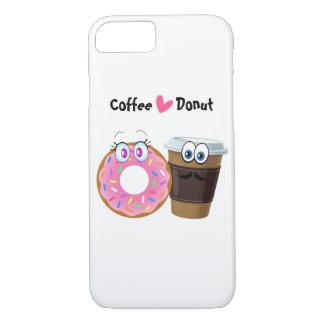 Coque iPhone 8/7 Le café mignon et drôle aime la caisse mobile de