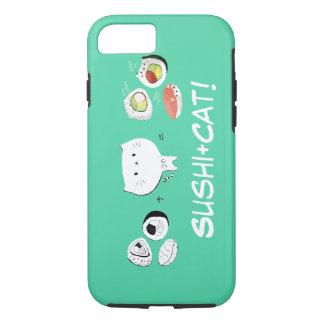 Coque iPhone 8/7 Le chat plus des sushi égale la gentillesse !