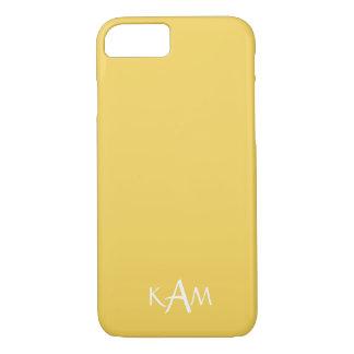 Coque iPhone 8/7 Le concepteur 2017 du printemps colore le jaune de