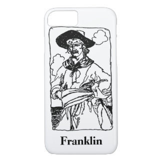 Coque iPhone 8/7 Le cru pirate le croquis d'un capitaine par Howard