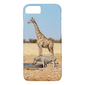 Coque iPhone 8/7 Le Giraffe & le zèbre iPhone 7 cas