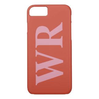 Coque iPhone 8/7 Le grand monogramme marque avec des lettres le
