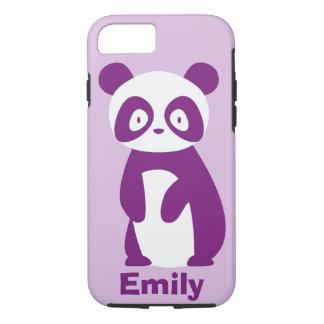 Coque iPhone 8/7 Le panda pourpre (tout nom) a personnalisé la