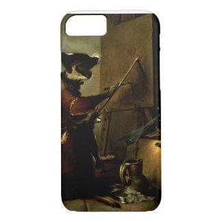 Coque iPhone 8/7 Le peintre de singe, 1740 (huile sur la toile)