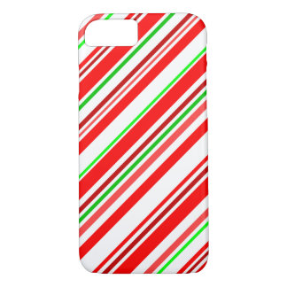 Coque iPhone 8/7 Le sucre de canne barre le vert blanc rouge de