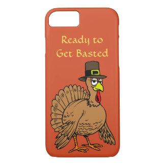 Coque iPhone 8/7 Le thanksgiving drôle obtiennent le pèlerin mignon