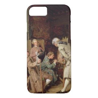 Coque iPhone 8/7 Les amants d'art, ou le peintre, 1860 (panneau)