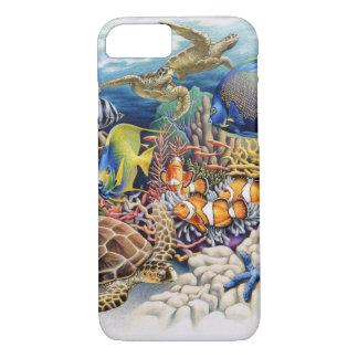 Coque iPhone 8/7 Les eaux de corail avec les poissons tropicaux