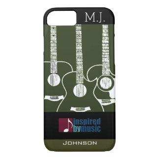 Coque iPhone 8/7 les guitares musique-ont inspiré le graphique