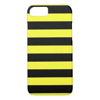 Coque iPhone 8/7 Les rayures jaunes et noires horizontales gaffent