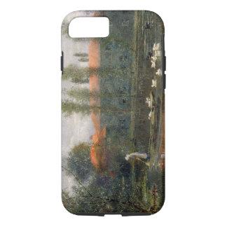Coque iPhone 8/7 L'étang de William Morris travaille à l'abbaye de