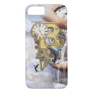 Coque iPhone 8/7 Lettre B d'anniversaire de Steampunk
