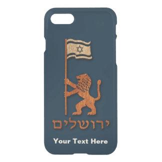 Coque iPhone 8/7 Lion de jour de Jérusalem avec le drapeau