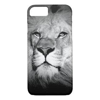 Coque iPhone 8/7 Lion noir et blanc