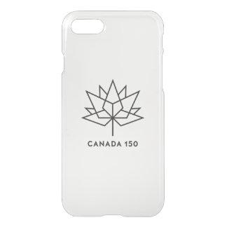 Coque iPhone 8/7 Logo de fonctionnaire du Canada 150 - contour noir