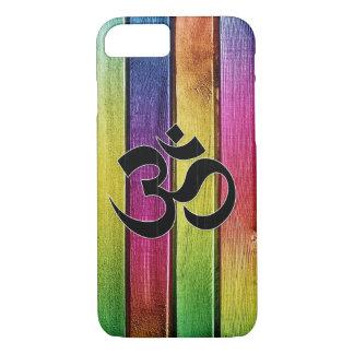 Coque iPhone 8/7 L'OM se connectent le bois multicolore