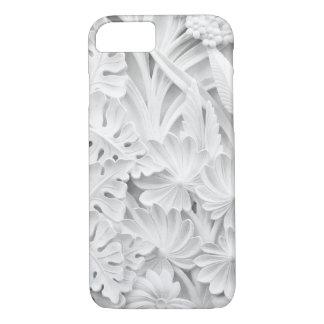Coque iPhone 8/7 Maçonnerie dans un motif de feuille et de fleur