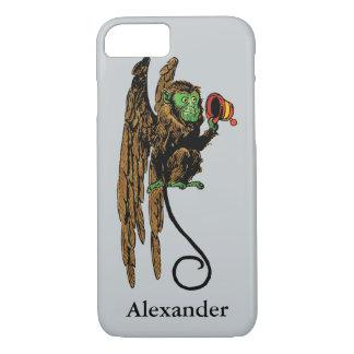Coque iPhone 8/7 Magicien d'Oz vintage, casquette mauvais de singe