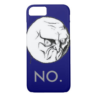 """Coque iPhone 8/7 Marine """"NON"""" texte gris de meme drôle"""