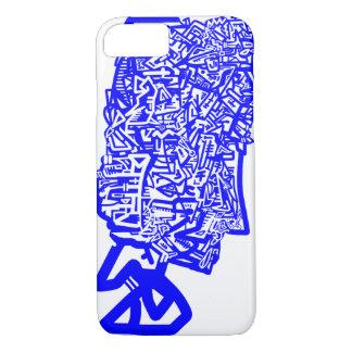 Coque iPhone 8/7 Masque animal bleu