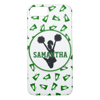 Coque iPhone 8/7 Mégaphones verts et pom-pom girl personnalisés