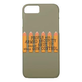 Coque iPhone 8/7 Message au sujet de contrôle des armes utilisant