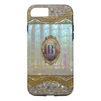 Coque iPhone 8/7 Monogramme du baroque de Veraspeace   VII