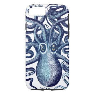 Coque iPhone 8/7 Monstre de mer bleu de poulpe