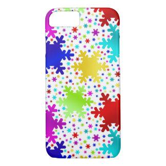 Coque iPhone 8/7 Motif brillant coloré de flocon de neige