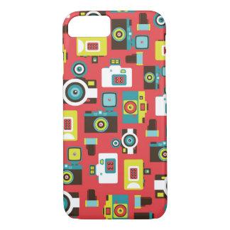 Coque iPhone 8/7 Motif coloré d'appareils-photo de Lomo d'amusement