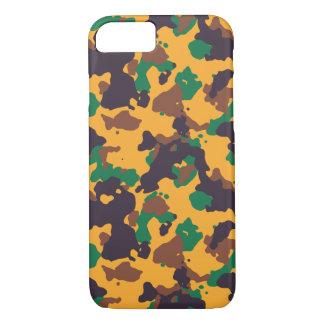 Coque iPhone 8/7 Motif coloré de camouflage de Rasta