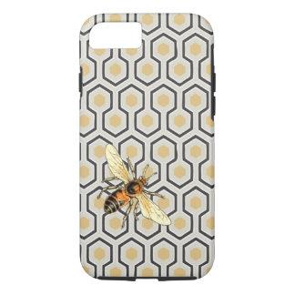 Coque iPhone 8/7 Motif d'abeille et de nid d'abeilles