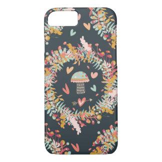 Coque iPhone 8/7 Motif d'amour de champignon de marine