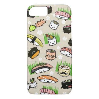 Coque iPhone 8/7 Motif de caractères de sushi