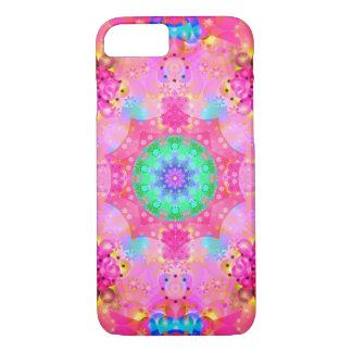 Coque iPhone 8/7 Motif de fractale d'étoiles et de bulles de rose