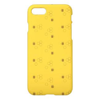 Coque iPhone 8/7 Motif de nid d'abeilles d'abeille