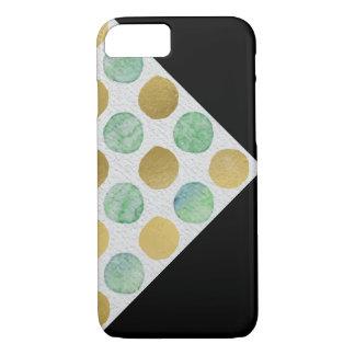 Coque iPhone 8/7 Motif de point de polka de parties scintillantes