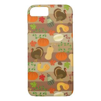 Coque iPhone 8/7 Motif de récolte d'automne de courge de la Turquie