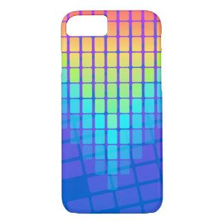 Coque iPhone 8/7 Motif de rectangles d'arc-en-ciel