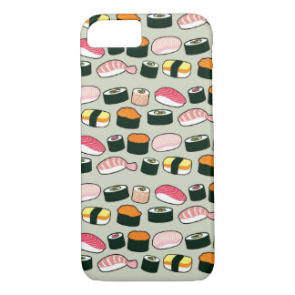 Coque iPhone 8/7 Motif d'illustrations d'amusement de sushi