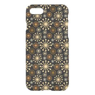 Coque iPhone 8/7 Motif d'or et argenté de flocons de neige de fête