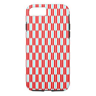 Coque iPhone 8/7 Motif géométrique bleu blanc rouge de vecteur