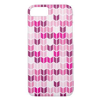 Coque iPhone 8/7 Motif géométrique rose